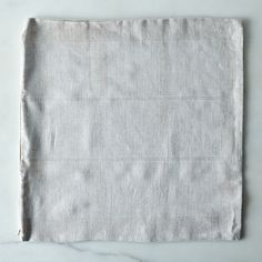 "Hand-printed Linen Pillow Cover, 18"" x 18"""