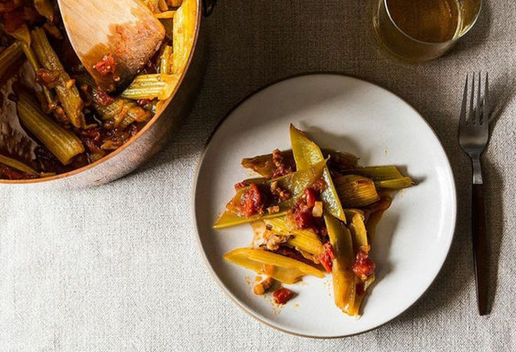 Marcella Hazan's Braised Celery with Onion, Pancetta, and Tomatoes