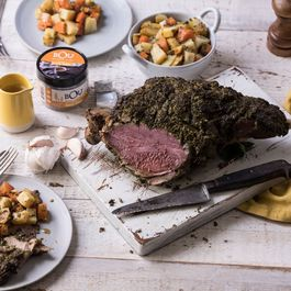 Herbed Leg of Lamb with Vegetables and BOU Gravy