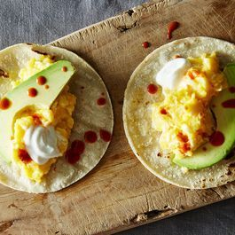 Scrambled Egg Tacos with Avocado