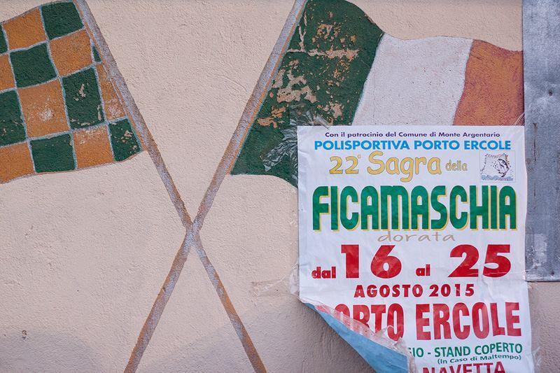 Posters for the sagra della ficamaschia in Porto Ercole.