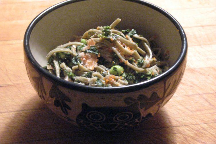 ... Salmon , Kale,Pomegranate, and Lemon Sesame Aioli Recipe on Food52
