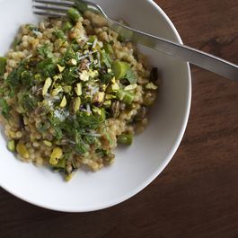 Couscous with Asparagus, Chervil + White Wine