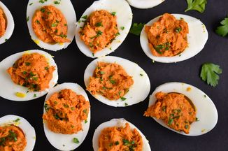 Nduja deviled eggs recipe on food52 for Table 52 deviled eggs recipe