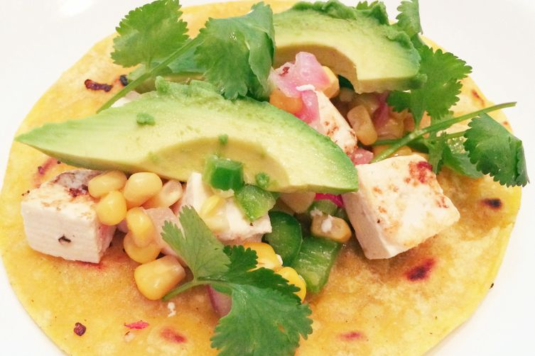 Tofu And Corn Ceviche Tacos