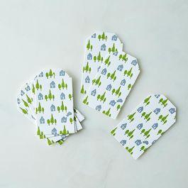 Cozy Cottage Letterpress Gift Tags (Set of 16)