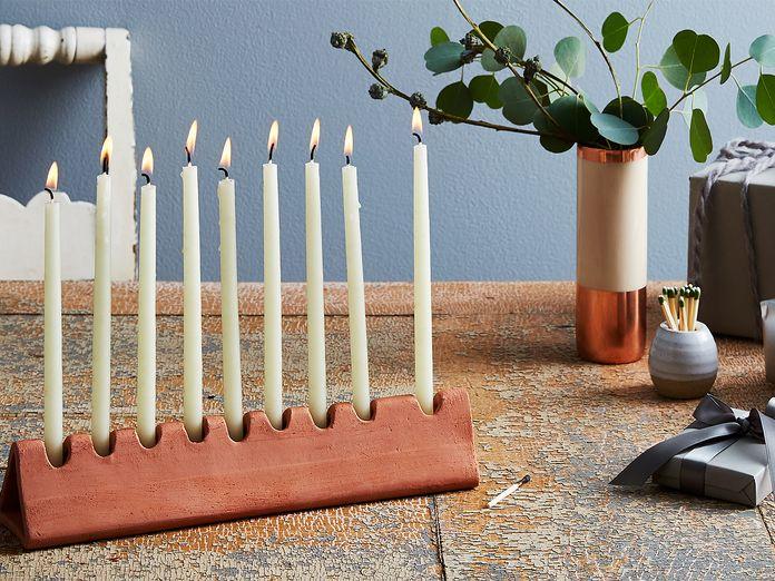 7 Stylish Menorahs to Celebrate Hanukkah
