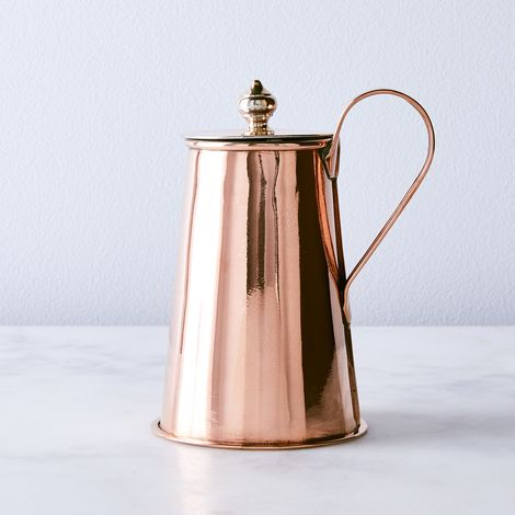 Vintage Copper English Petite Coffee Pot, Late 19th Century