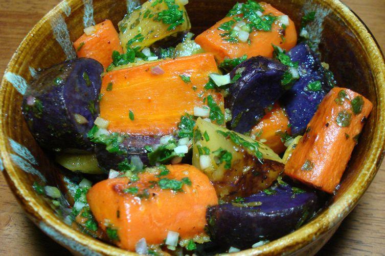 Roasted Vegetable Salad with Chimichurri Sauce