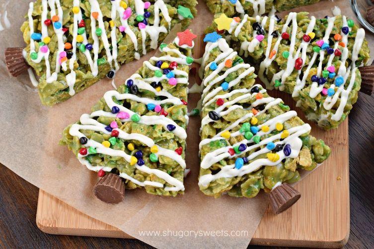 Holiday Scotcheroos: Christmas Trees