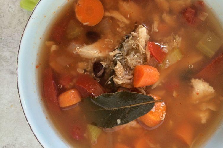 Crockpot Chicken Quinoa Soup