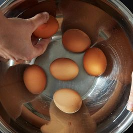 The Neat, Pain-Free Way to Peel Hard Boiled Eggs