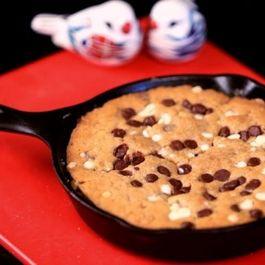 Fudgy Chocolate Chip Skillet Cookie