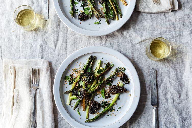 Morels and Asparagus