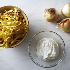 Diane Kochilas' Pasta with Yogurt and Caramelized Onions