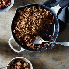 Raspberry-Rhubarb Crumble with Cracklin' Oat Bran Topping
