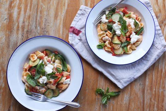 Your New Summer Pasta: Orecchiette with Zucchini, Tomato, and Ricotta