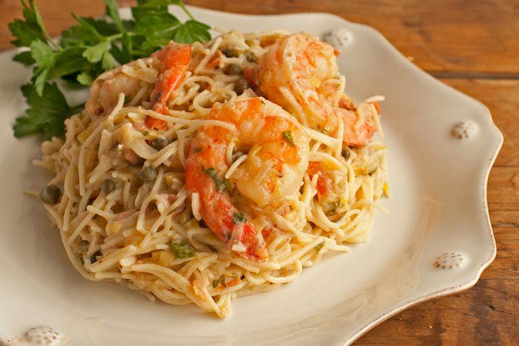 Shrimp Capellini with Gorgonzola-Garlic Butter Sauce Recipe on Food52