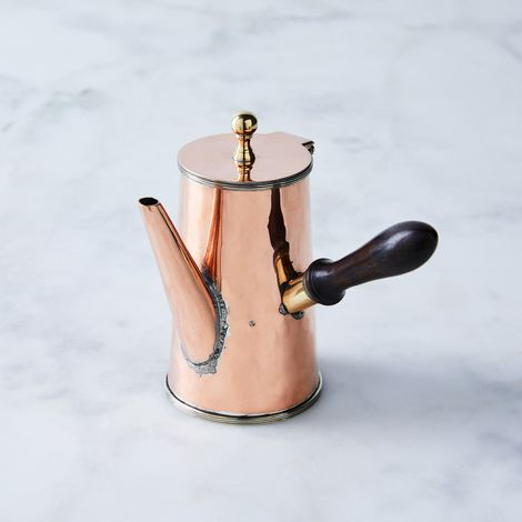 Vintage Copper English Chocolate Pot, Mid 19th Century