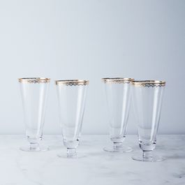 Gold-Detailed Fizz Glasses (Set of 4)