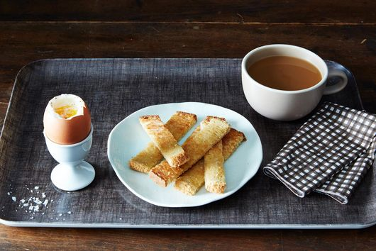 Six-Minute Eggs with Miso Butter Toast