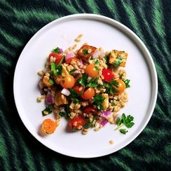 Farro and Halloumi