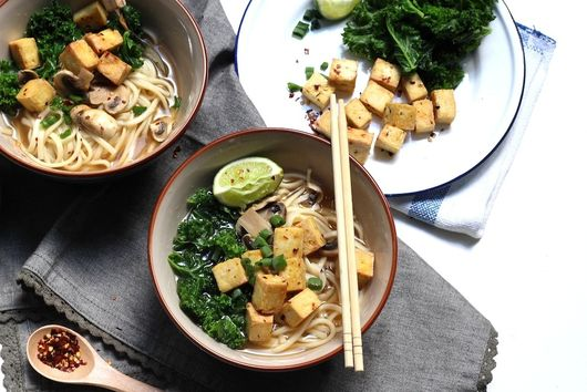Udon Noodle Soup w/ Chili Lime Roasted Tofu