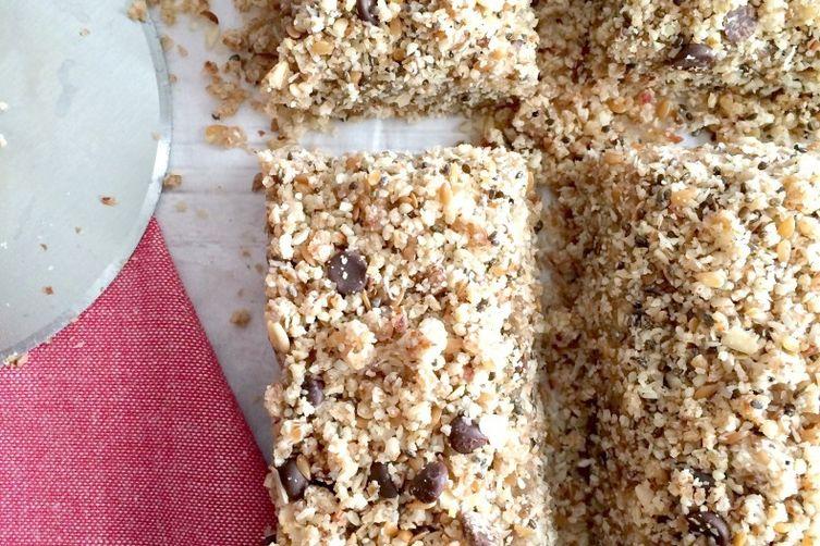 Chocolate Almond Chia Hemp Flax Bars