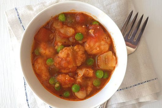 Warm & Cozy  Cauliflower, Potato & Chickpea Stew