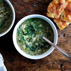 Rice and Lettuce Soup