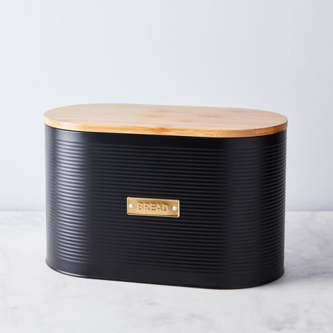 Black Steel Bread Bin