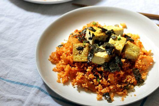 Vegan Korean Recipes: Cauliflower Kimchi Fried Rice