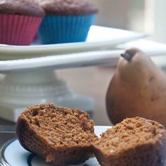 Pear Gingerbread Muffins
