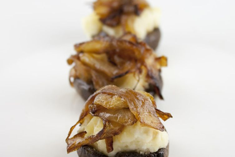 Mashed Potato Stuffed Mushrooms