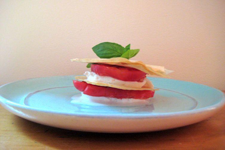 Fresh Mozzarella and Tomato Napoleon