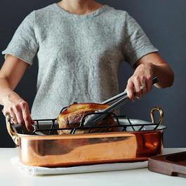 Mauviel Heritage Copper Roasting Pan with Rack