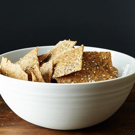 Peter Reinhart's Crispy Rye and Seed Crackers