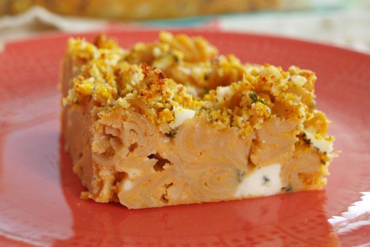 Pumpkin Mac and Blue Cheese