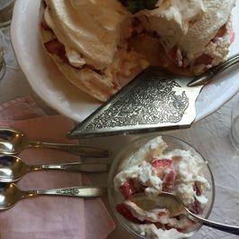 Pavlova With Strawberries And Elderflower Whipped Cream