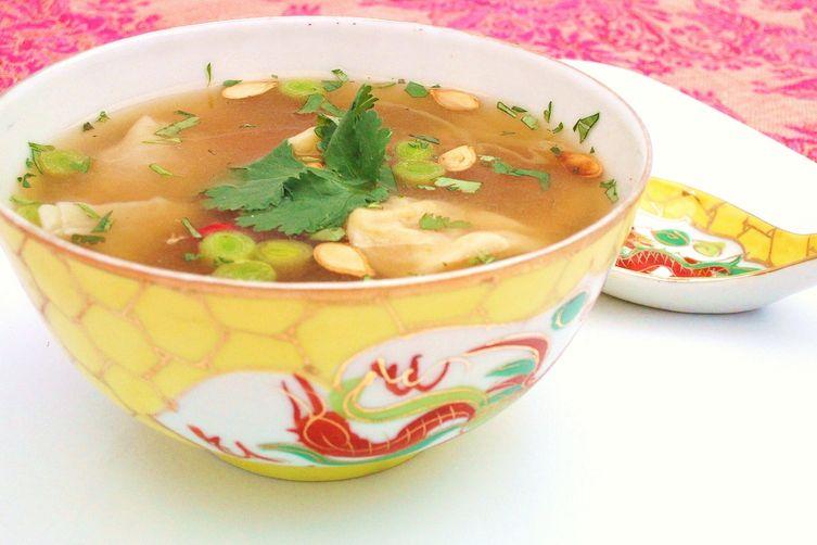 Thai Squash Wonton Soup