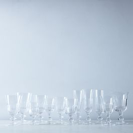 Half Ground Vintage Italian Crystal Glassware