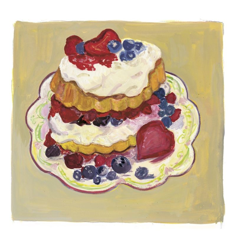 The Strawberry and Blueberry Shortcakes that remind Kalman of summer.