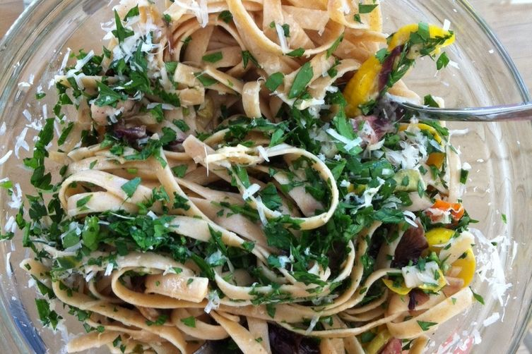 Linguine with Slow Cooked Zucchini