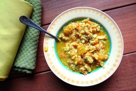 """Curried Chicken & """"Rice"""" Stew"""