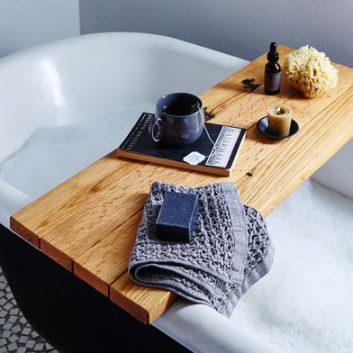 Natural Wood Tub Caddy