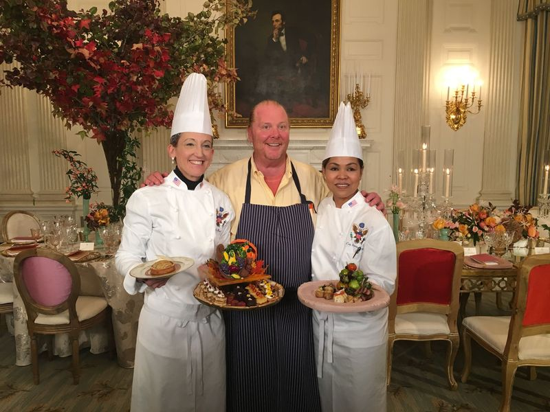 Morrison, Batali, and White House Executive Chef Cristeta Comerford.