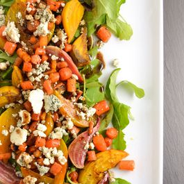 Roasted Beet, Carrot, And Blue Cheese Salad