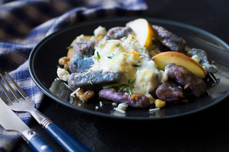 Purple Potato Gnocchi with Gorgonzola Cream Sauce