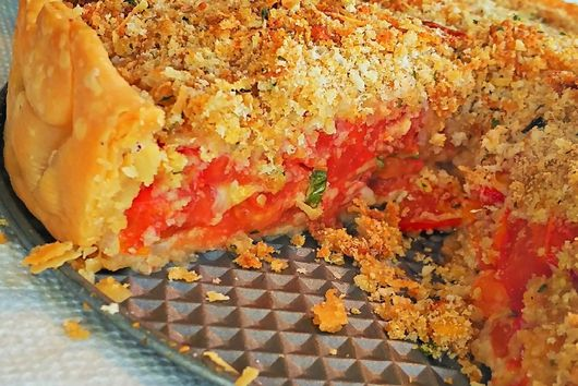 Late Summer Tomato Pie