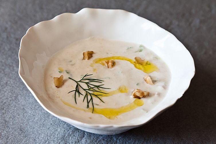 Yogurt Soup with Cucumbers and Walnuts (Tarator)